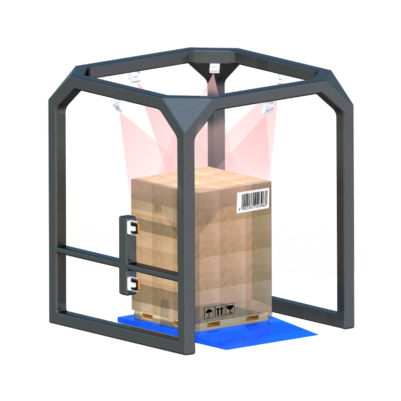 Large cargo volume measurement system